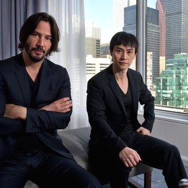 Keanu and Tiger at the window